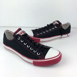 Converse Chuck Taylor Low Top Sneakers Black Red